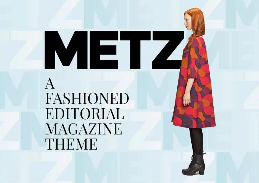 Metz Editör wordpress tema dergisi haber blogu