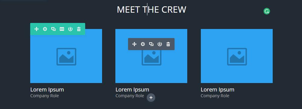Interfaz de usuario Divi 3 ejemplos de iconos
