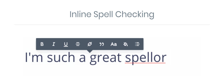 Compatibilidad con el corrector ortográfico basado en el navegador Divi