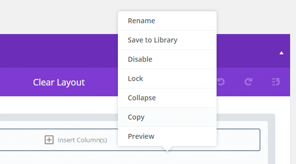 Divi 2.5 Actualizar clic derecho