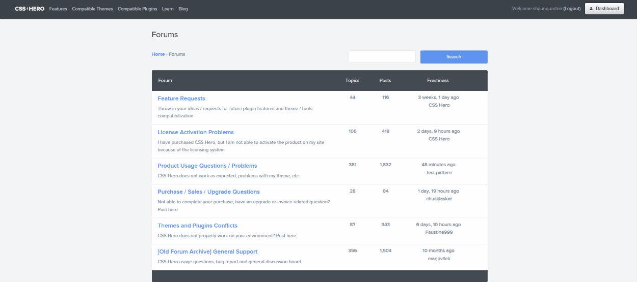 Fórum podpory CSS