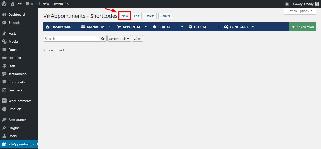 Agregar nuevo shortcode en vikappointments