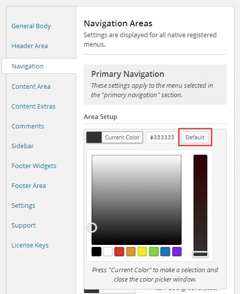 Genesis Palette Pro Predeterminado