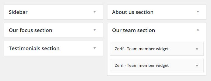 Widget de revisão do tema Zerif Lite