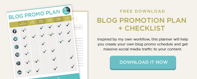 ¡Mira este Plan de promoción de contenido + Lista de verificación para ayudarte a comercializar las publicaciones de tu blog y obtener tráfico masivo en las redes sociales!