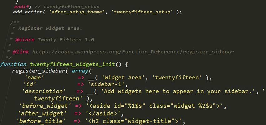 Cod thema WordPress.