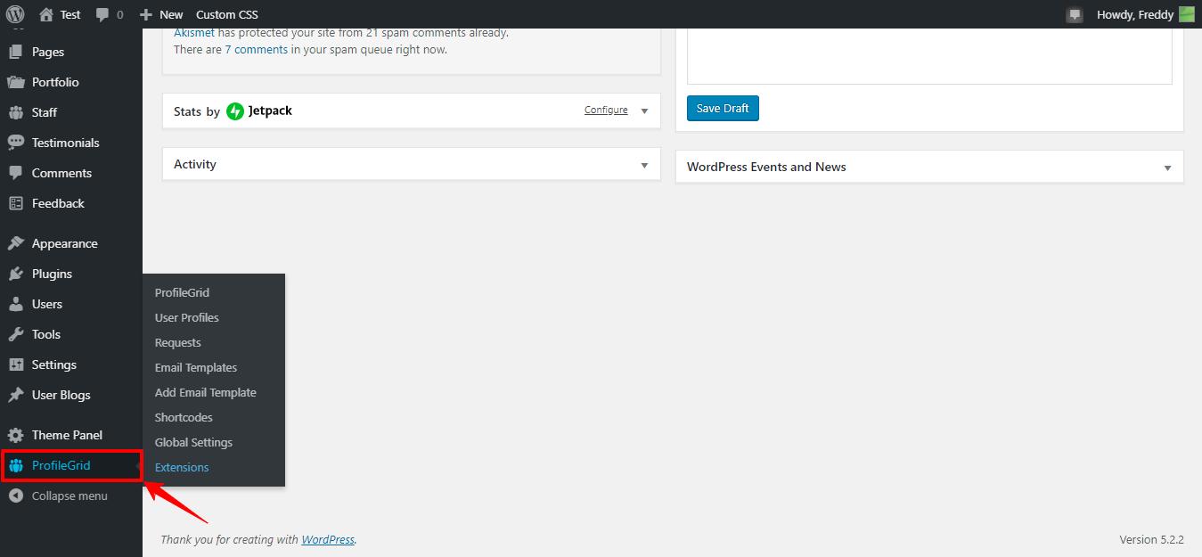 Configuración del administrador de la guía de perfil