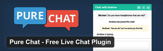 Pure Chat Zadarmo Live Chat Plugin