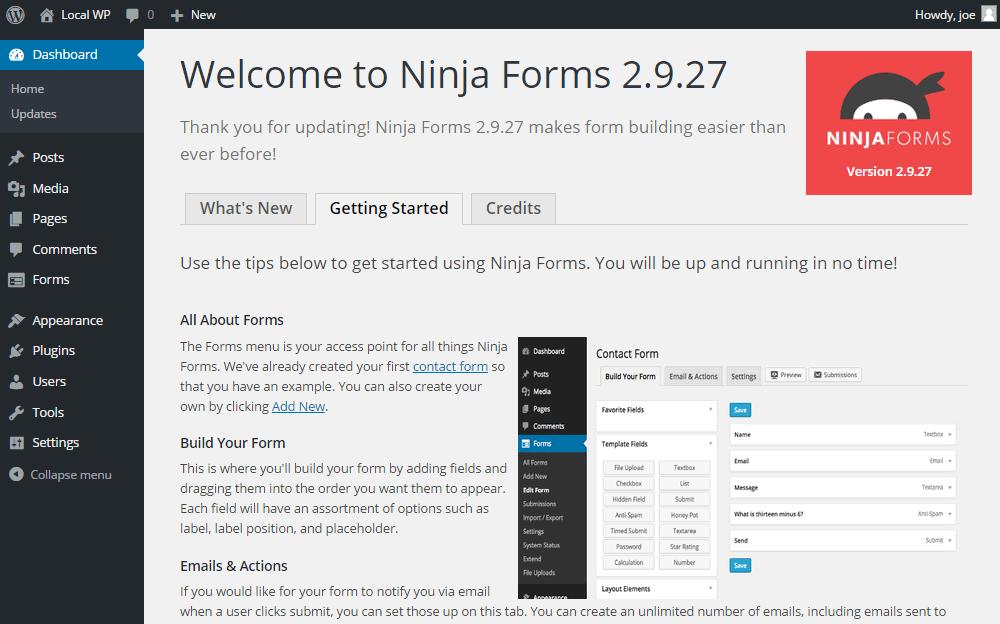 Grinity Forms vs Ninja Formaları UI