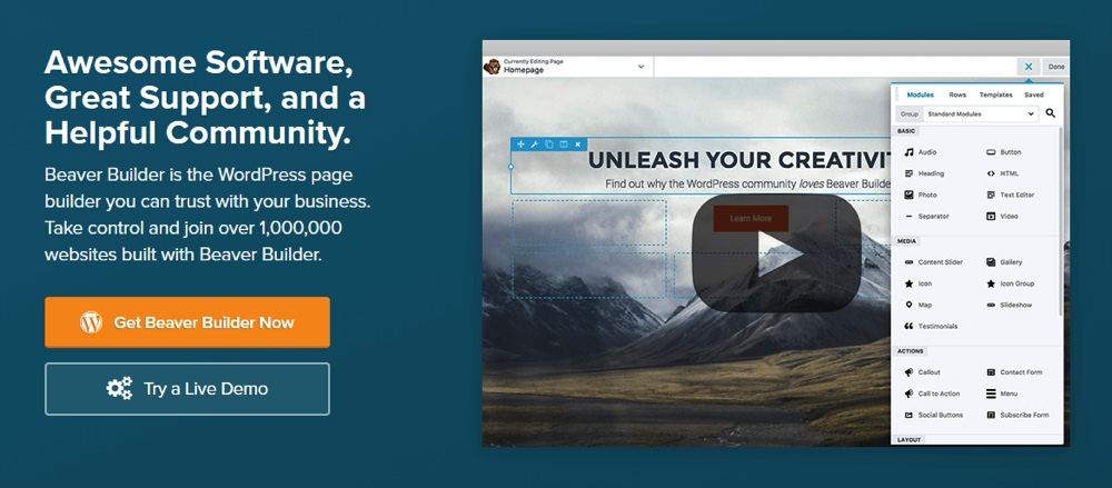 Beaver Builder para WordPress