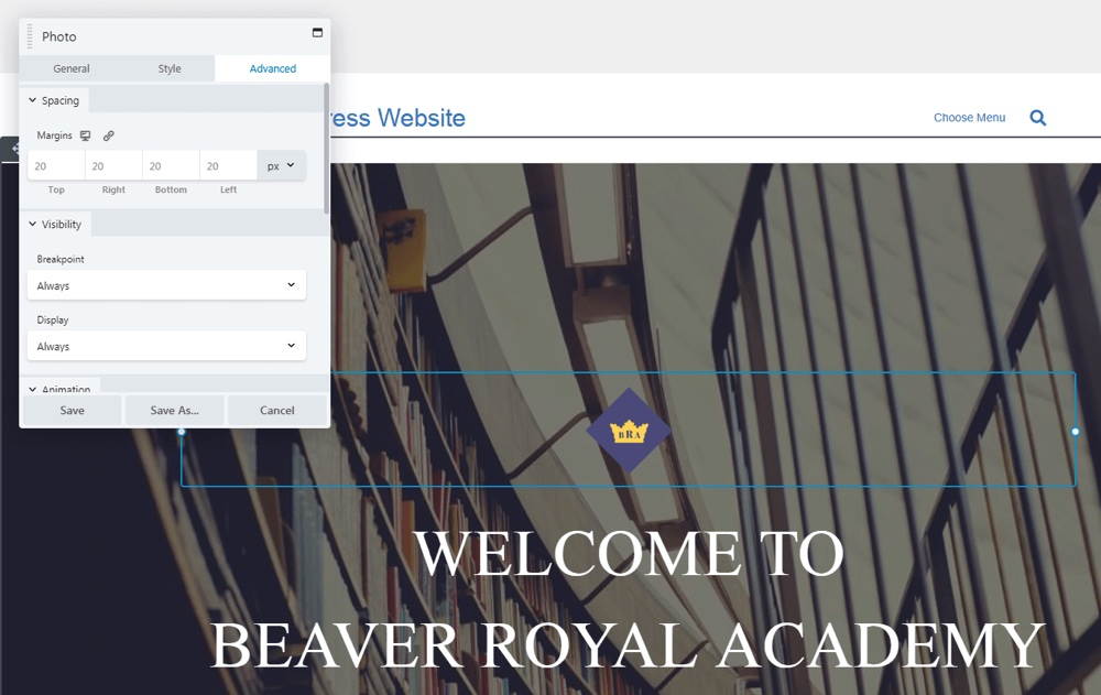 Configuración avanzada de Beaver Builder