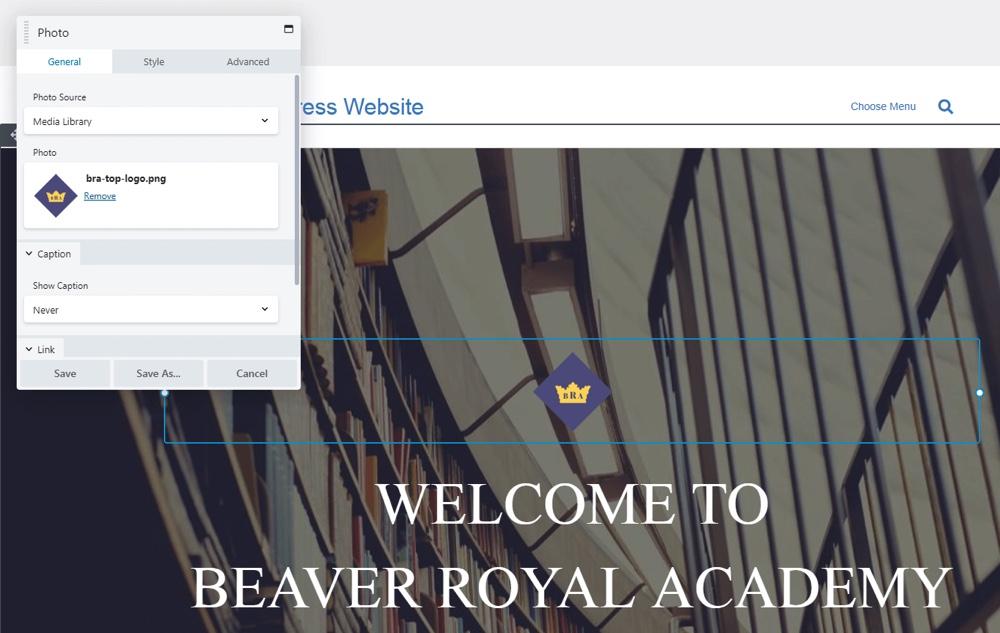 Configuración del módulo Beaver Builder