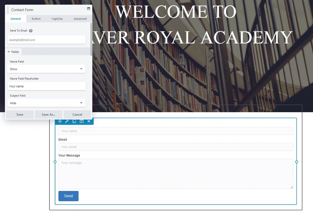 Módulo de formulario de contacto de Beaver Builder