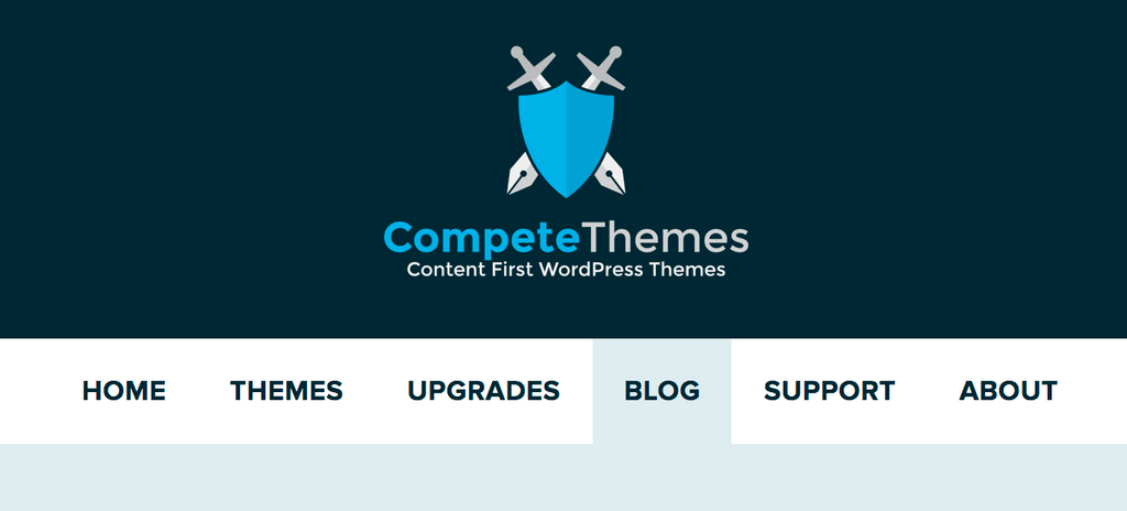 Captura de tela do menu Competir Temas