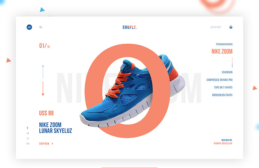Šablóna dizajnu webového dizajnu Shoply elektronického obchodu Adobe Photoshop Free PSD Format