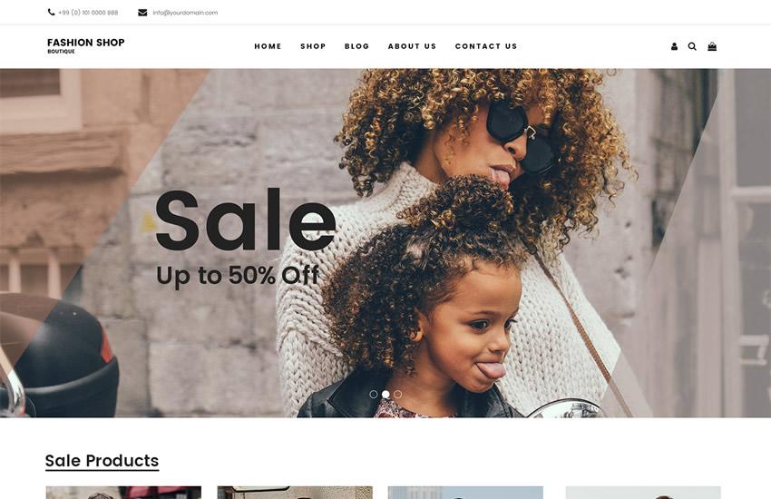 Móda obchod e-commerce web design adobe photoshop šablóna zadarmo psd