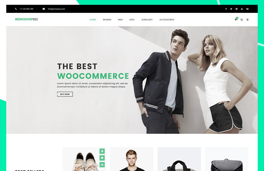Roneshopbee e-commerce webdesign adobe photoshop šablóna psd formát zadarmo