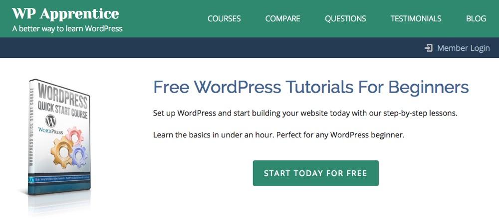 Szybki start WordPress przez WP Apprentice