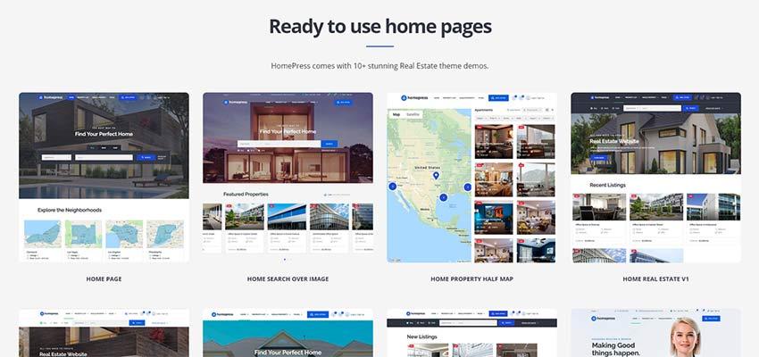 HomePress ana sayfası için örnek düzenler.