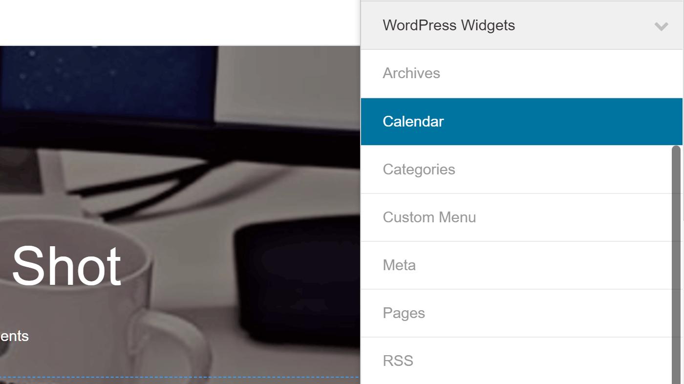 Thêm widget vào thiết kế của bạn