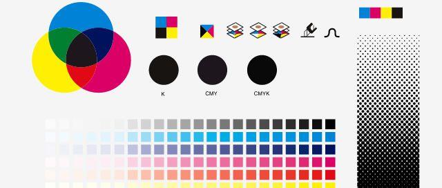 Kompletná sada nástrojov na publikovanie ikon na pracovnej ploche, ktorá demonštruje teóriu farieb pre neskúsených dizajnérov