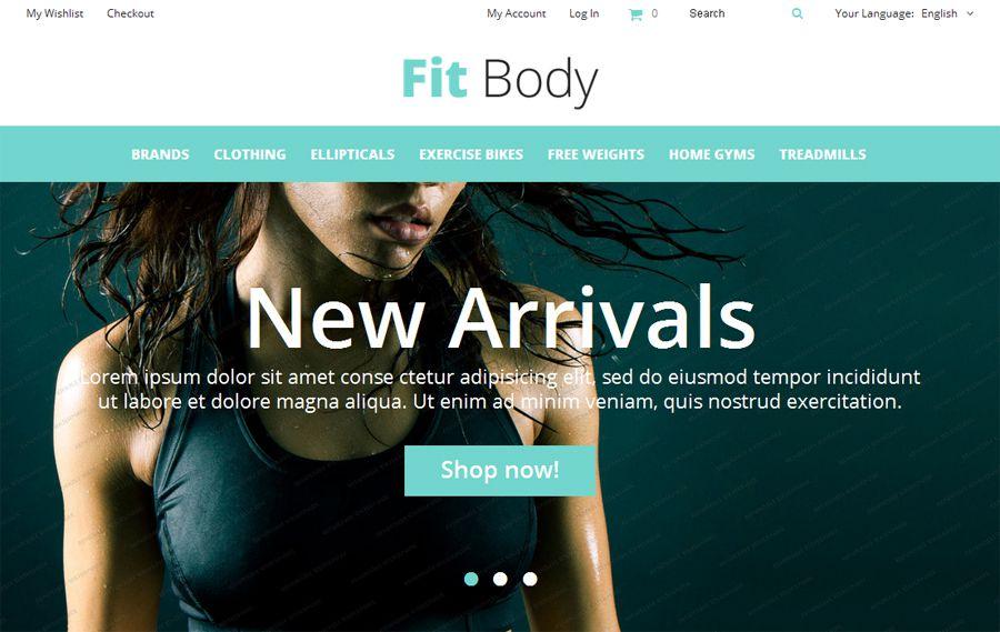 Model OpenCart Fit Body Açıq