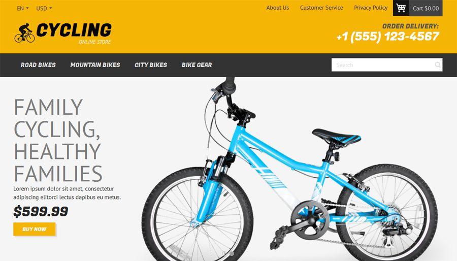 Pulsuz OpenCart velosiped şablonu
