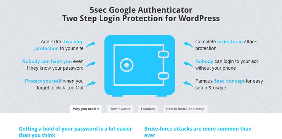 """Google Authenticator kanssa 5 sekuntia suojataksesi kirjautumistasi WordPressillä kahdessa vaiheessa """"leveys ="""" 900 """"korkeus ="""" 443"""