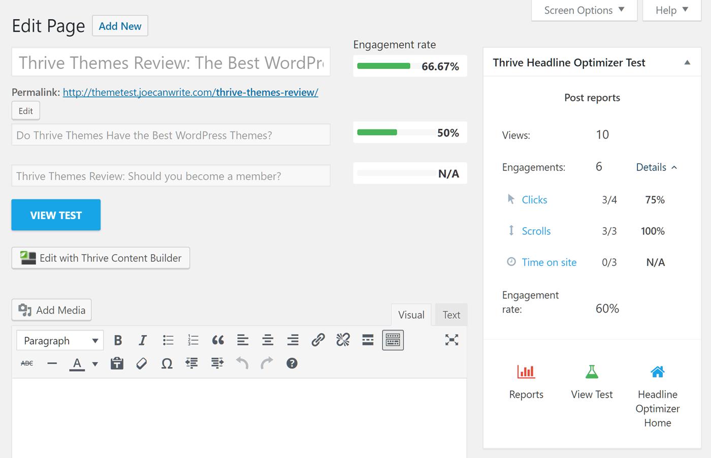 Vytvorte viac variácií nadpisov