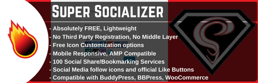 WordPress sosial paylaşımı, sosial giriş və sosial şərh plagin - Super Socializer