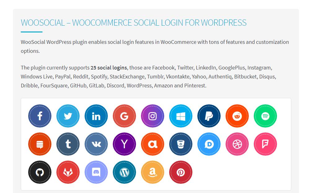woosociálny wordpress sociálny prihlasovací doplnok