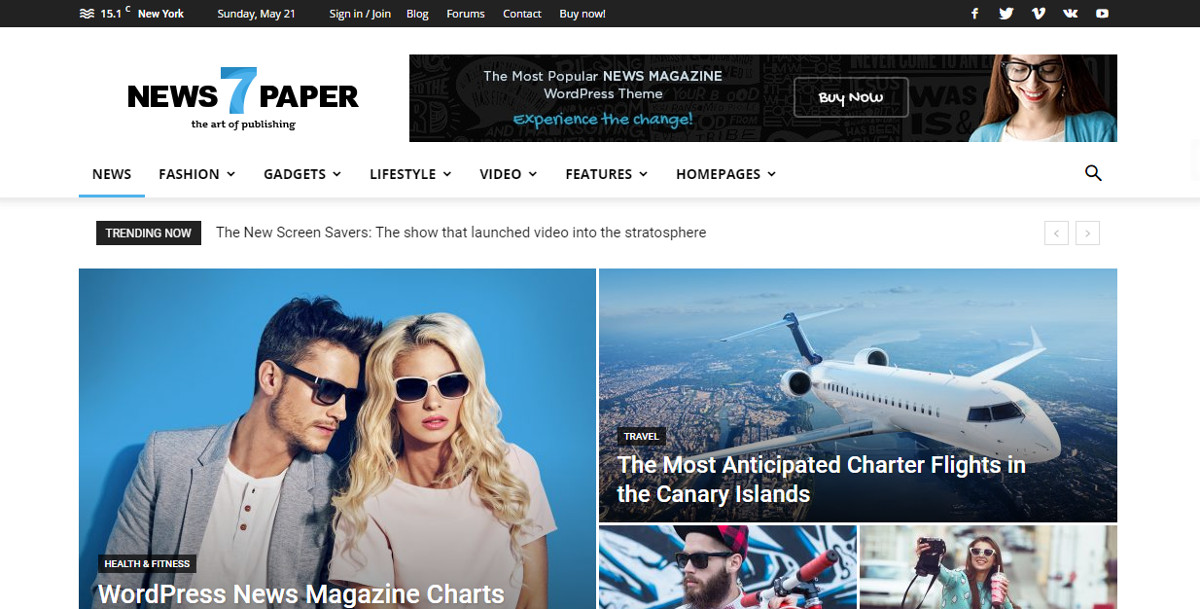 Sanomalehti WordPress-teema