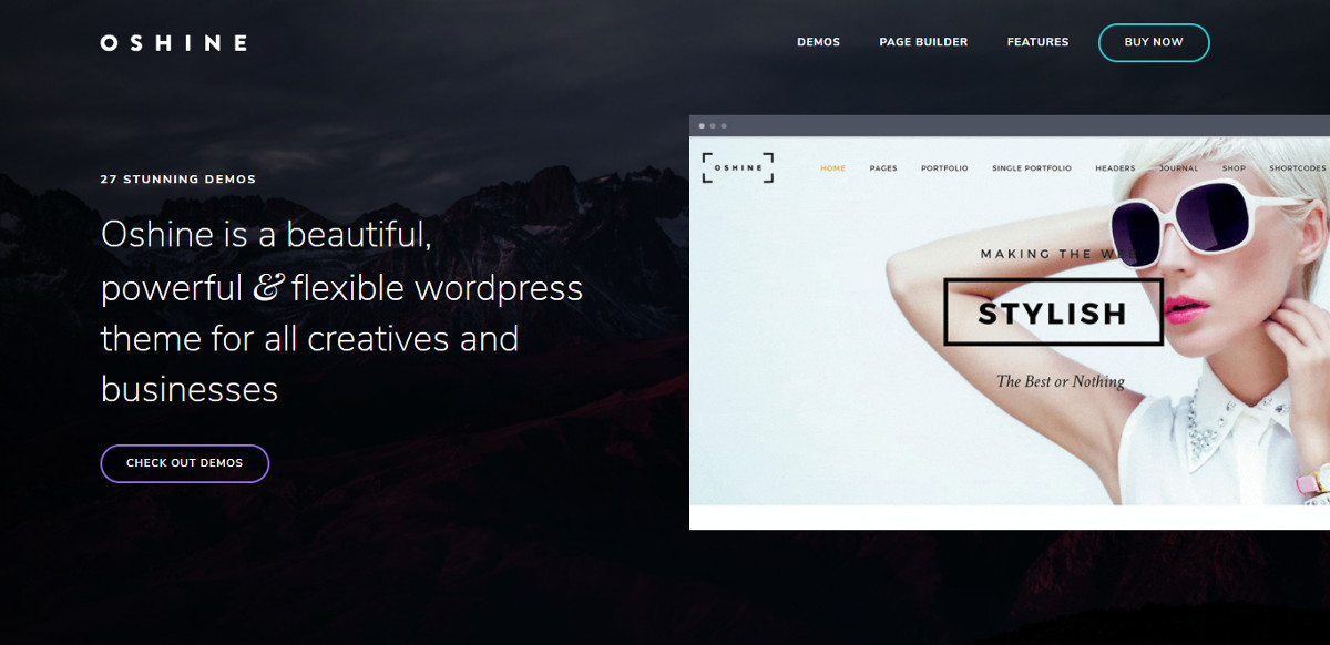 Oshine WordPress -teema