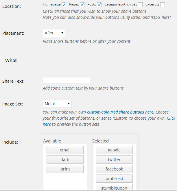 Botones simples para compartir