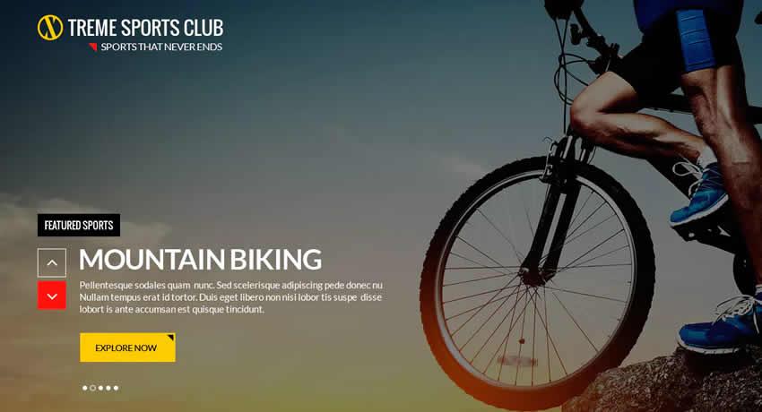 Xtreme Sports Club Sport Fitness Diseño web Inspiración ui ux