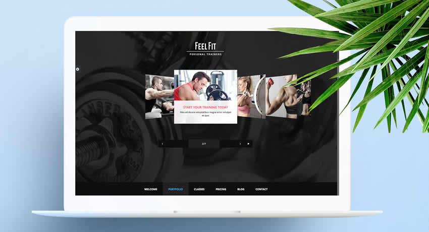 Entrenador personal Deporte Fitness Diseño web Inspiración ui ux