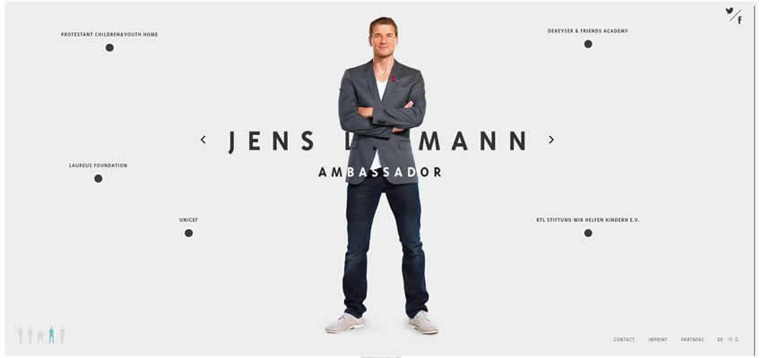 Jens Lehmann Sport Fitness Diseño web Inspiración ui ux
