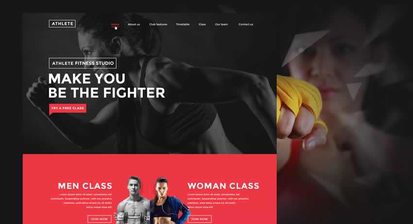 Fitness Gym Sports Fitness Diseño web Inspiración ui ux