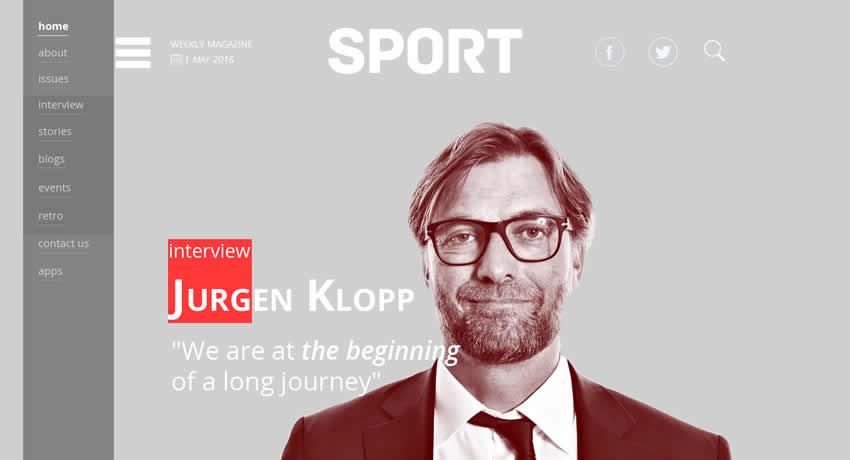 SPORT Magazine Sport Fitness Diseño web Inspiración ui ux