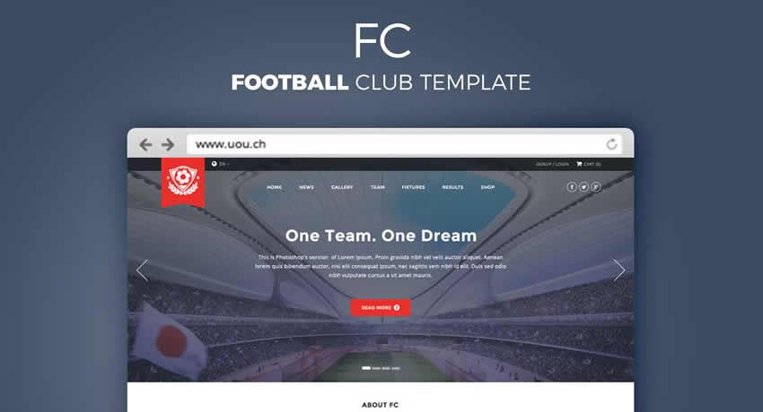 Football Club Sport Fitness Diseño web Inspiración ui ux