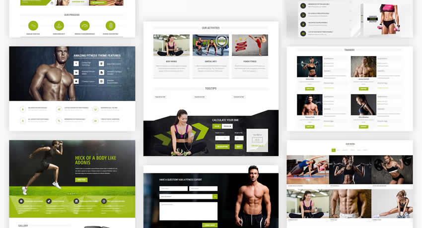 Fitness Zone Fitness deportivo Diseño web Inspiración ui ux