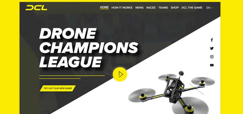 DCL Drone Champions League Sport Fitness Diseño web Inspiración ui ux