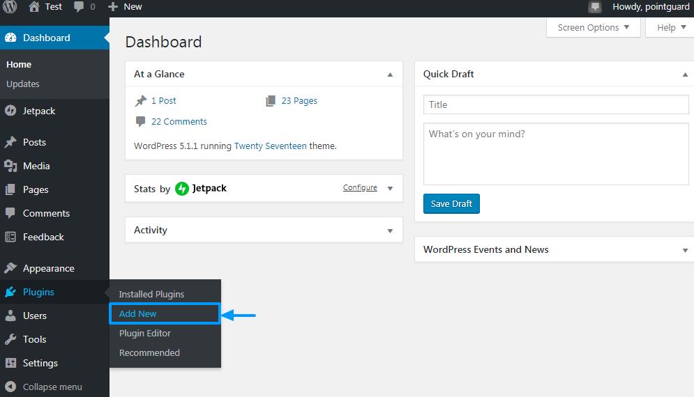 WordPress Admin-də yeni bir plugin əlavə edin