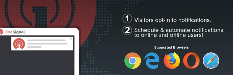 Plugin OneSignal cho thông báo đẩy web miễn phí