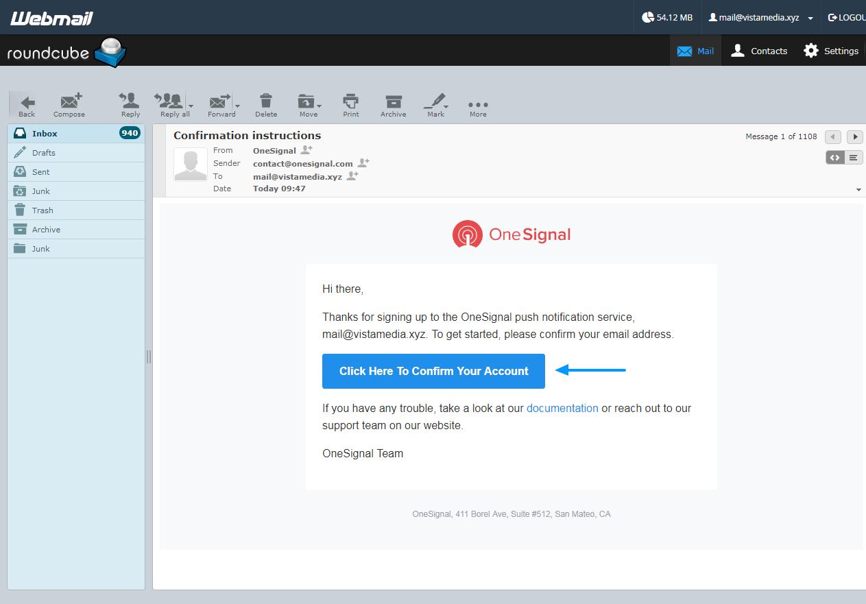 tài khoản email kích hoạt