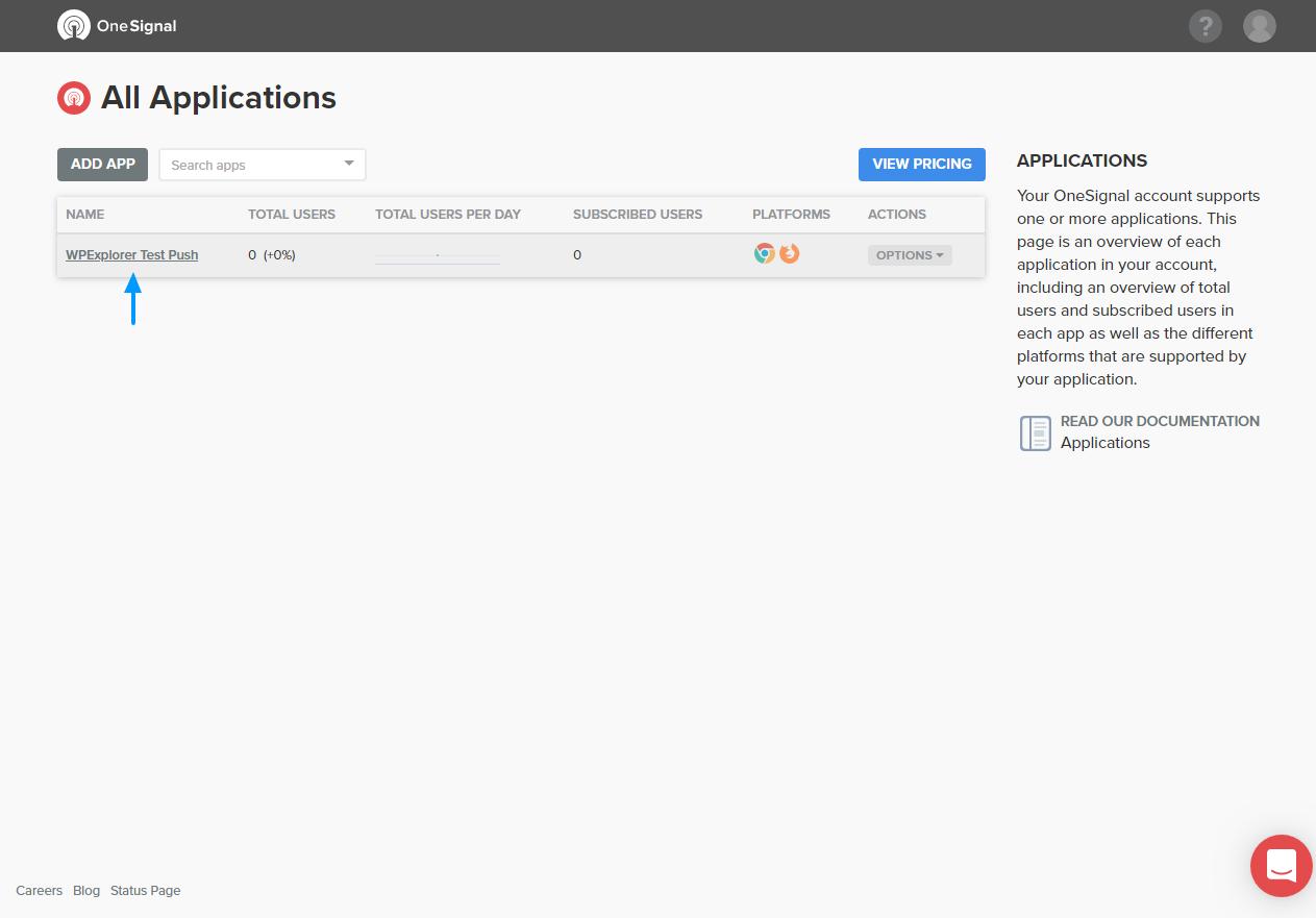 phiên bản của ứng dụng web đẩy cá nhân