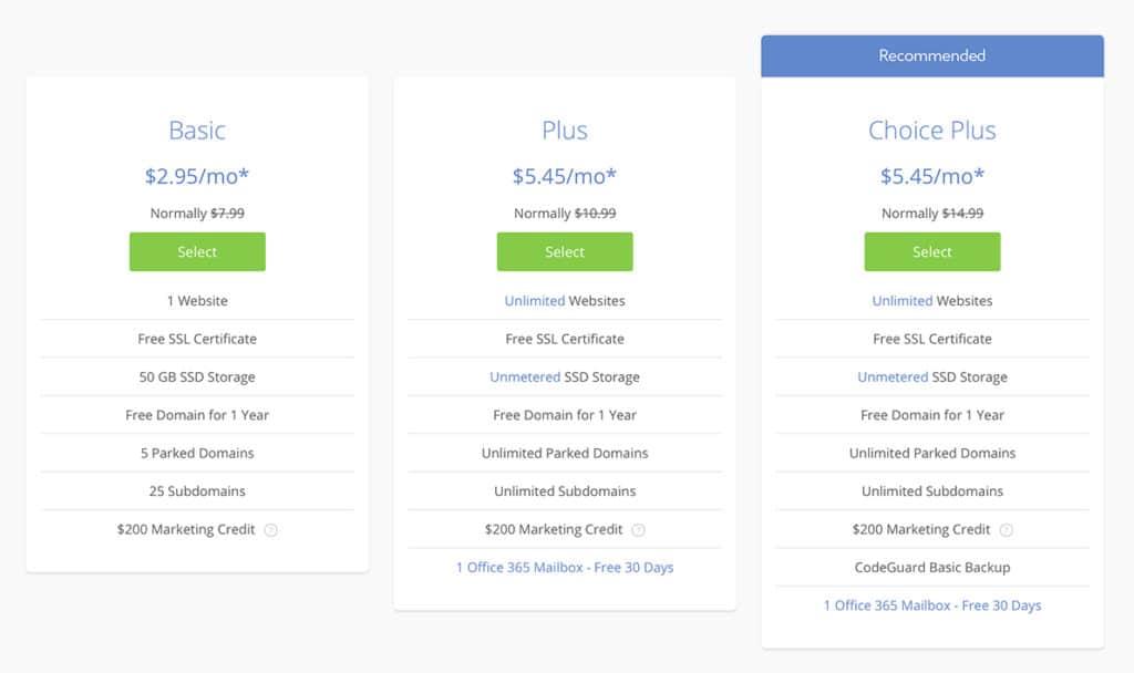 Revisión de precios de Bluehost 2020