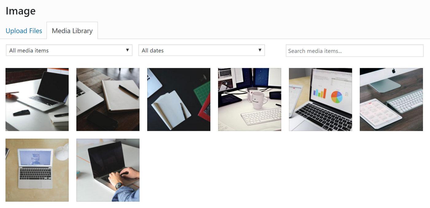 Thêm ảnh vào thanh trượt của bạn thông qua Thư viện phương tiện WordPress