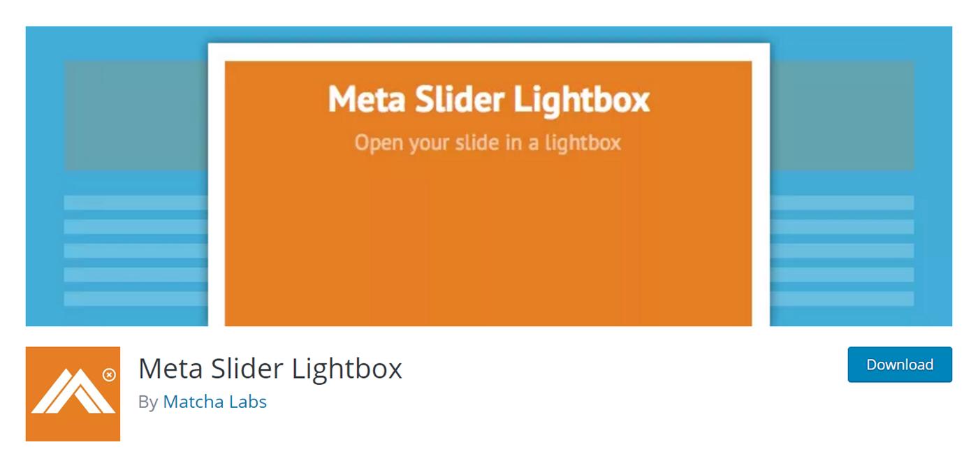 Plugin Meta Slider Lightbox