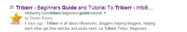 Triberr Hướng dẫn Kết quả Công cụ Tìm kiếm